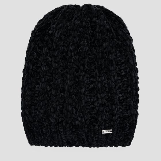 Patterned chenille beanie aw4265.000.a7093a