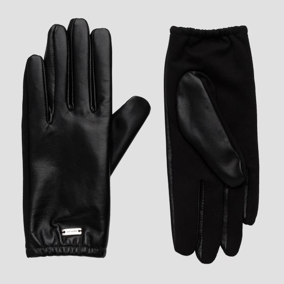 Gloves in solid-coloured smooth leather aw6072.000.a3190