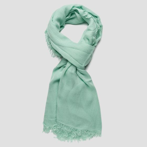 Scarf with fringes aw9234.000.a0070