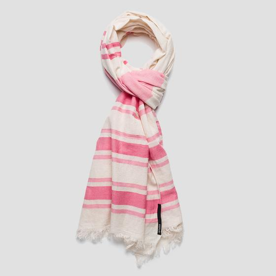 Striped cotton scarf aw9261.000.a0067a