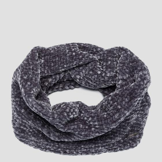 Weaved knit scarf aw9266.000.a7093