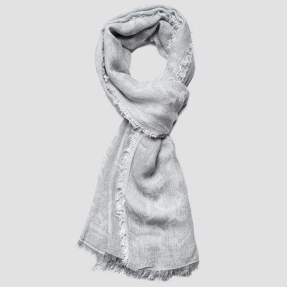 REPLAY scarf with jacquard pattern aw9277.000.a0383