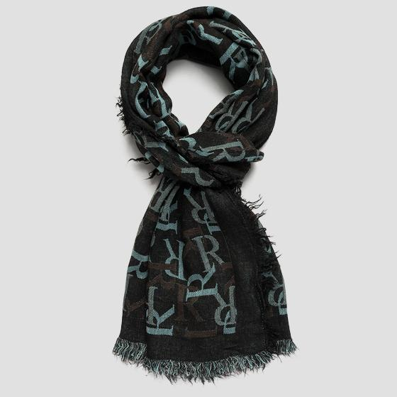 REPLAY scarf with jacquard pattern aw9277.001.a0383b