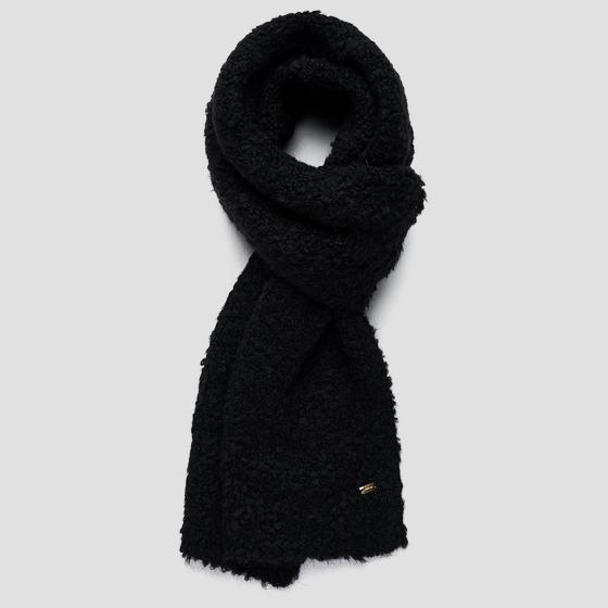 Bouclé scarf in wool and mohair aw9284.000.a7052