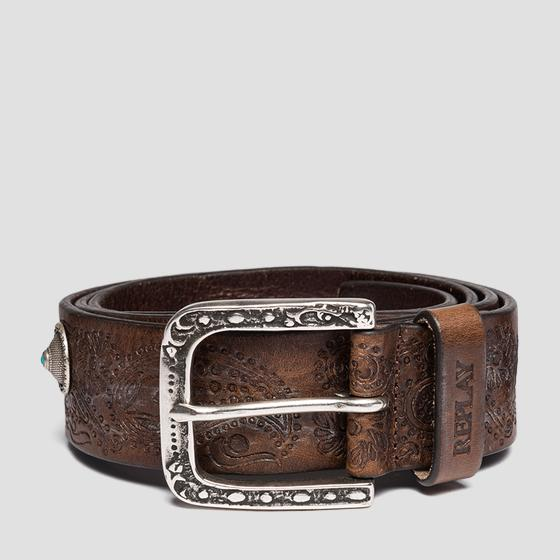 Belt in pull up leather ax2238.000.a3007