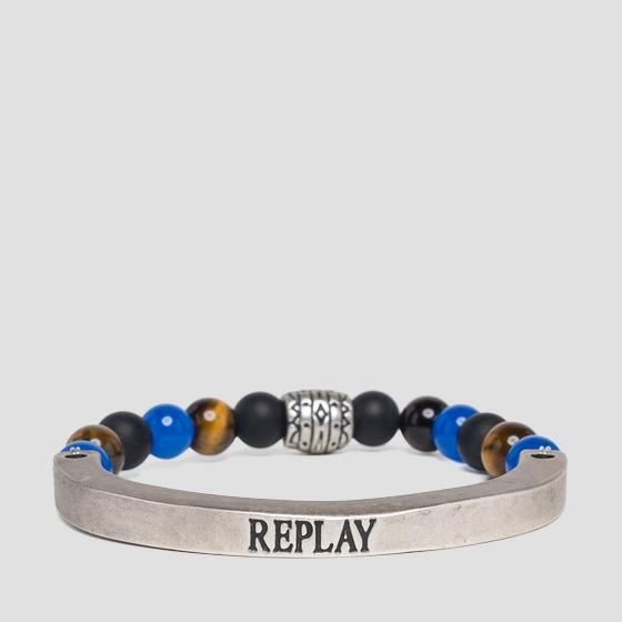 Metal bracelet with stones ax7093.000.a6006