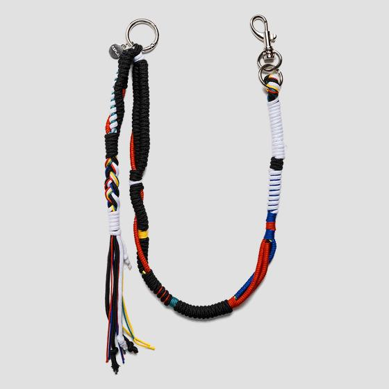 Keyring in interlaced cord ax7106.000.a0054