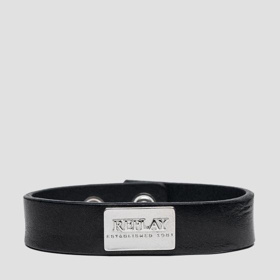 REPLAY ESTABLISHED 1981 leather bracelet ax7166.000.a3007