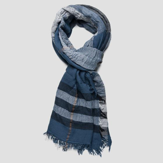 Scarf with checked print ax9209.000.a0186f