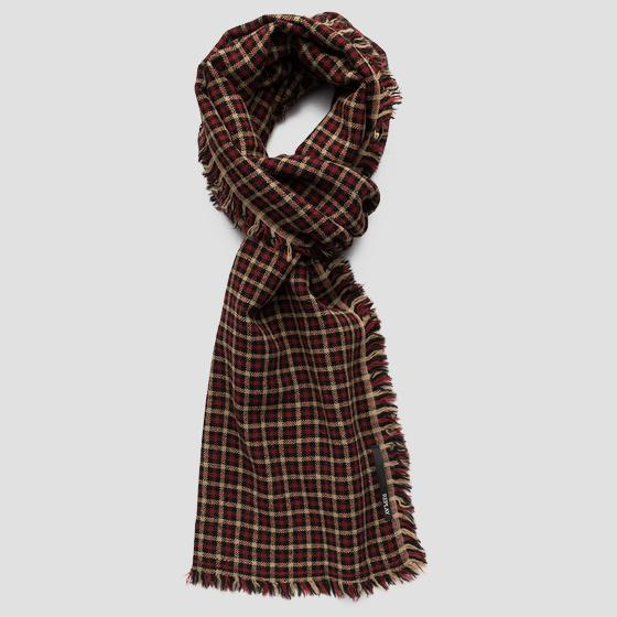 Checked wool scarf ax9219.000.a0400