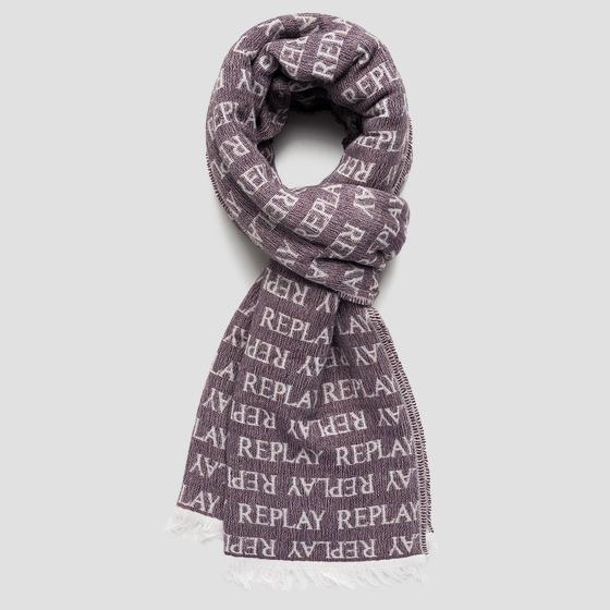REPLAY scarf in jacquard wool blend ax9238.000.a0443