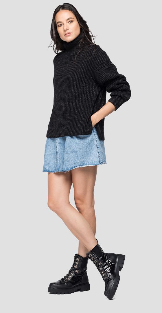 Turtleneck tricot sweater dk7078.000.g22454g