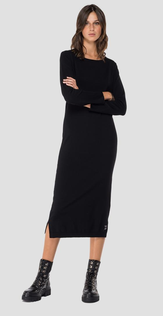 Hyperflex Merino midi sweater dress dk7089.000.g22734