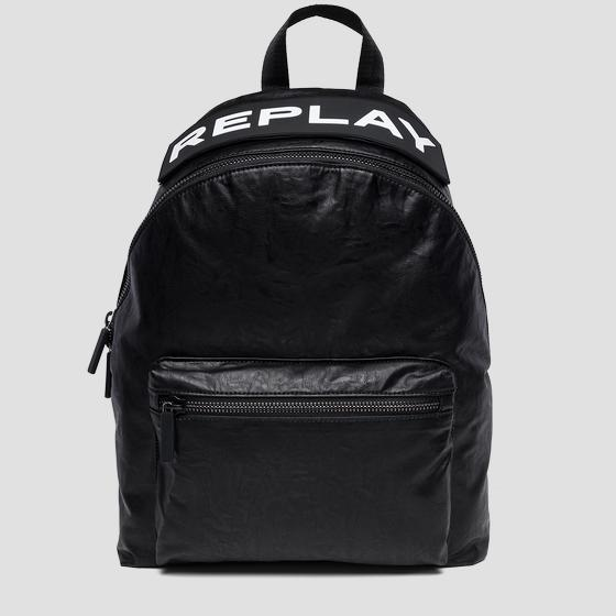 Backpack with maxi REPLAY writing fm3373.000.a0376