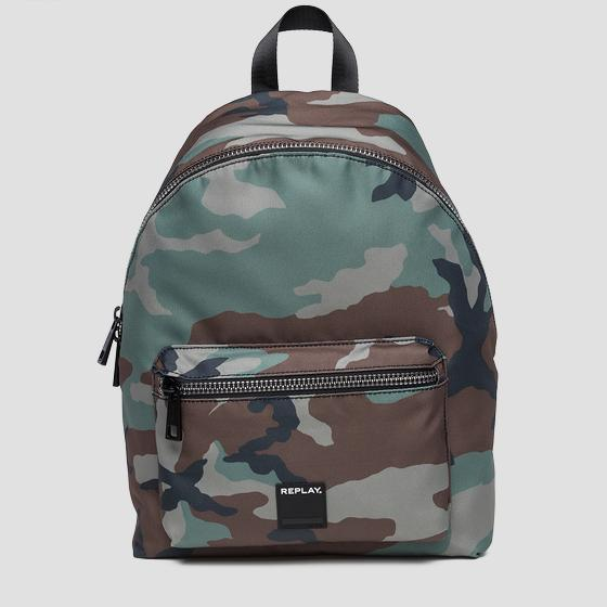 Backpack with camouflage print fm3373.002.a0343b