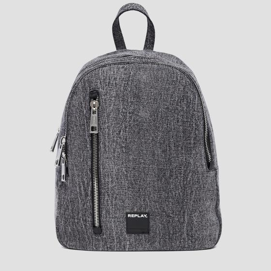 Marble denim backpack fm3380.000.a0013n