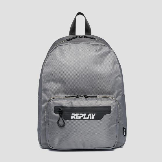 Canvas and nylon Replay backpack fm3432.000.a0330