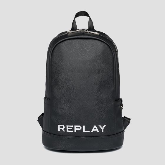 REPLAY backpack with saffiano effect fm3487.000.a0283c