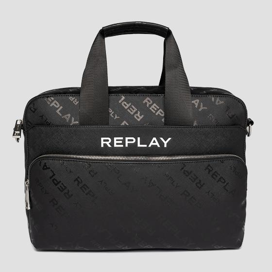 REPLAY handbag with saffiano effect fm3491.000.a0283d