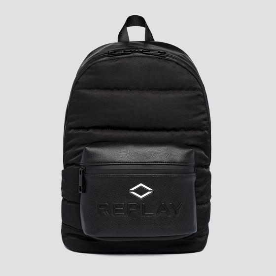 REPLAY padded backpack with crinkle effect fm3531.000.a0229a