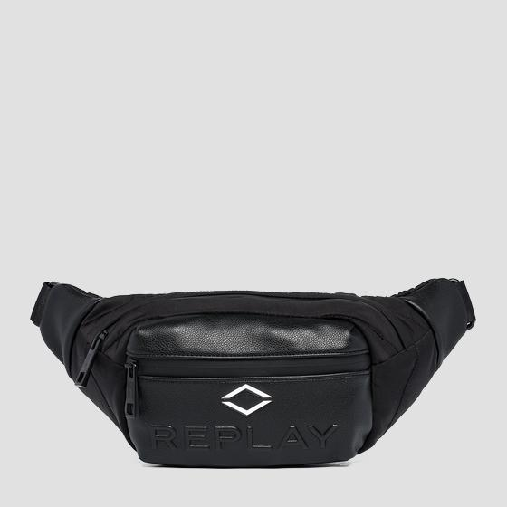 REPLAY nylon waist bag with crinkle effect fm3533.000.a0229a