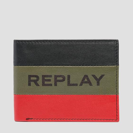Striped REPLAY wallet fm5197.000.a3063