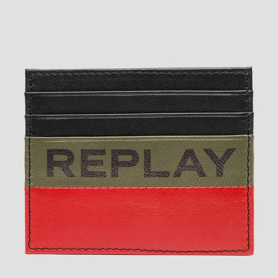 Leather card holder REPLAY fm5199.000.a3063