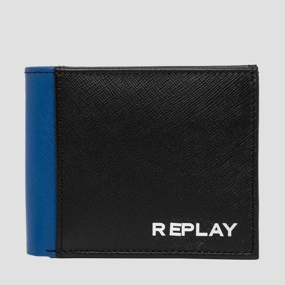 REPLAY leather wallet with saffiano effect fm5210.000.a3053