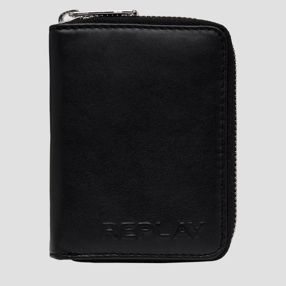 Leather wallet with zipper fm5233.000.a3063