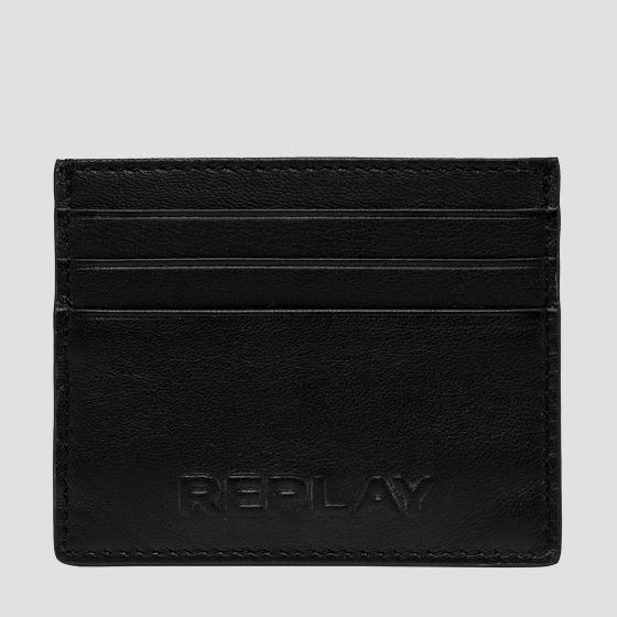 REPLAY leather cardholder fm5234.000.a3063