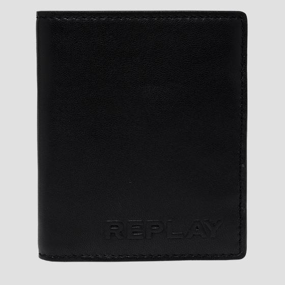 REPLAY leather wallet with button fm5235.000.a3063