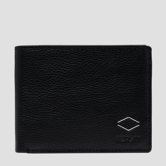 REPLAY hammered leather wallet fm5236.000.a3063b