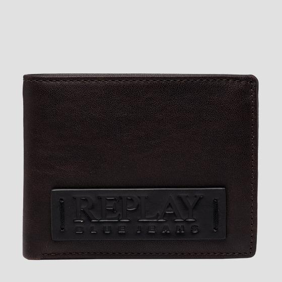 REPLAY BLUE JEANS hammered leather wallet fm5250.000.a3191
