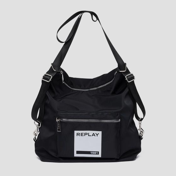 Bag with REPLAY 1981 print fu3065.000.a0021b