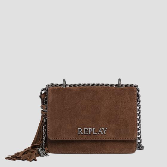 REPLAY crossbody bag in suede fw3001.009.a3154