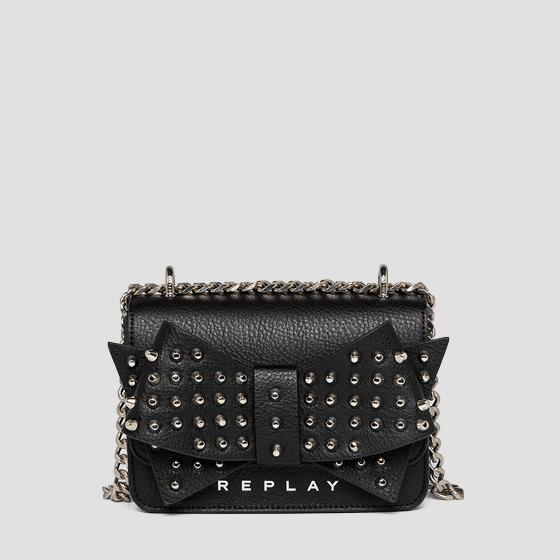 Crossbody bag with bow and studs fw3001.013.a0132d