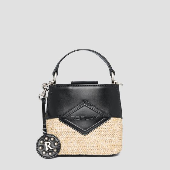 REPLAY handbag in raffia fw3111.000.a0295