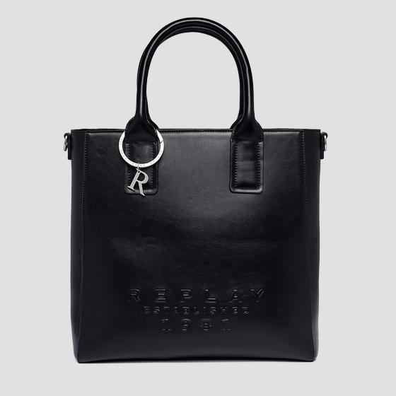 REPLAY ESTABLISHED 1981 shopper with shoulder strap fw3160.000.a0365b