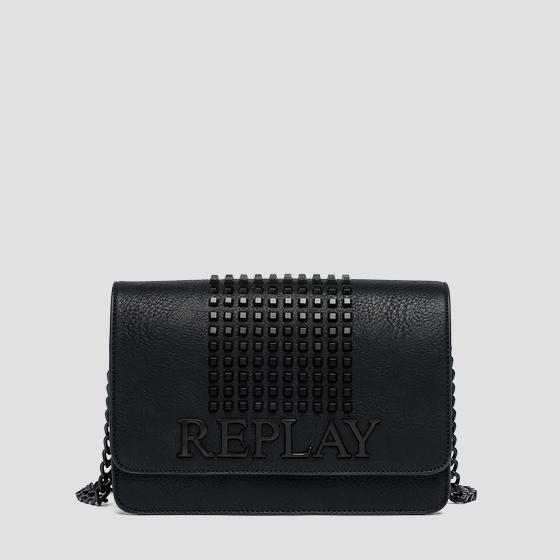 Eco-leather bag with studs fw3788.002.a0362