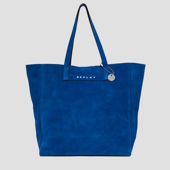 Shopper bag in suede leather fw3828.000.a3054