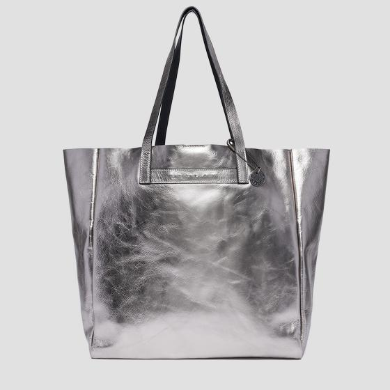 Laminated leather shopper bag fw3828.002.a3120c
