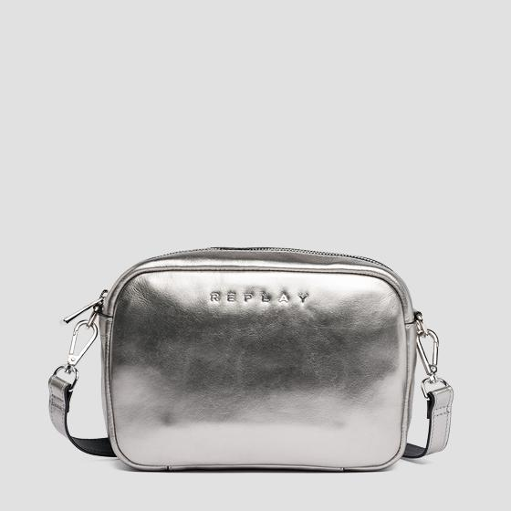 Shoulder bag in metallic leather fw3829.002.a3120c