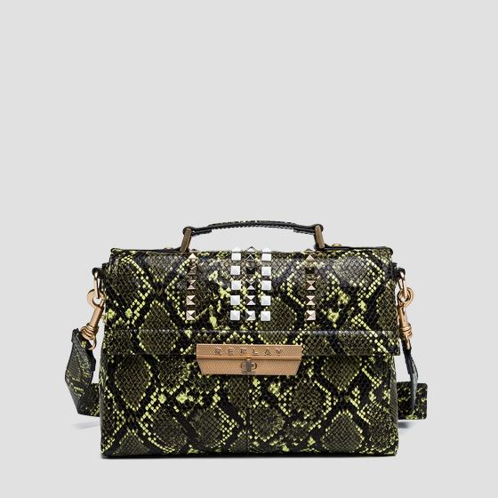 Python shoulder bag with studs fw3861.002.a0247e