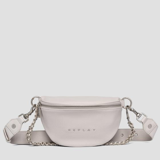 Waist bag in hammered eco-leather fw3897.000.a0132d