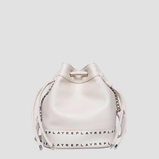Bucket bag in hammered eco-leather fw3905.000.a0132d