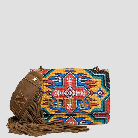 Shoulder bag with ethnic pattern fw3910.006.a3154