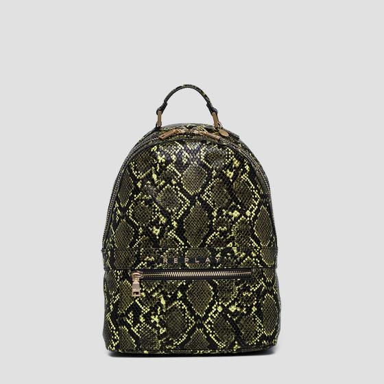 Backpack with shiny python print fw3915.000.a0247e