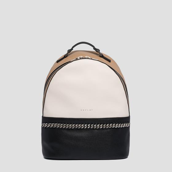 Backpack in hammered eco-leather fw3930.000.a0737