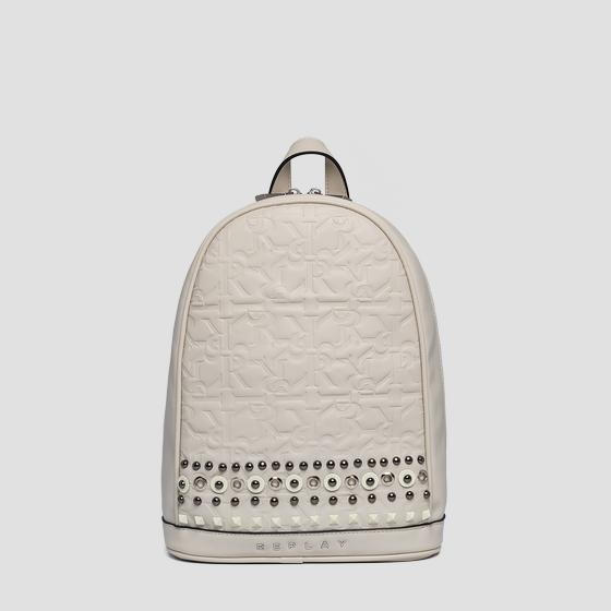 Eco-leather backpack with studs fw3937.000.a0362b