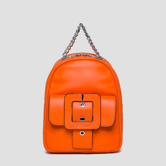 Backpack with pocket and maxi buckle fw3943.000.a0284